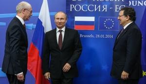 Russian president Putin and top EU officials meet for trust-building summit
