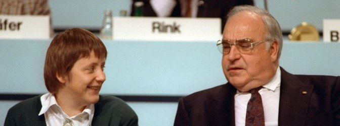 Kohl und Merkel  1991