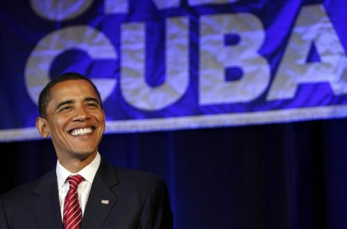 U.S. Democratic presidential candidate Senator Barack Obama attends Cuban Independence Day celebrations in Miami